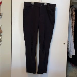 Express Black Jeans w/ knee holes